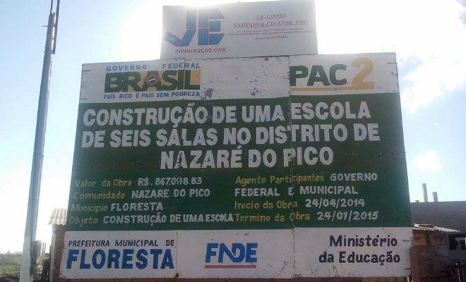 escola em construcao em nazare do pico em floresta-pe