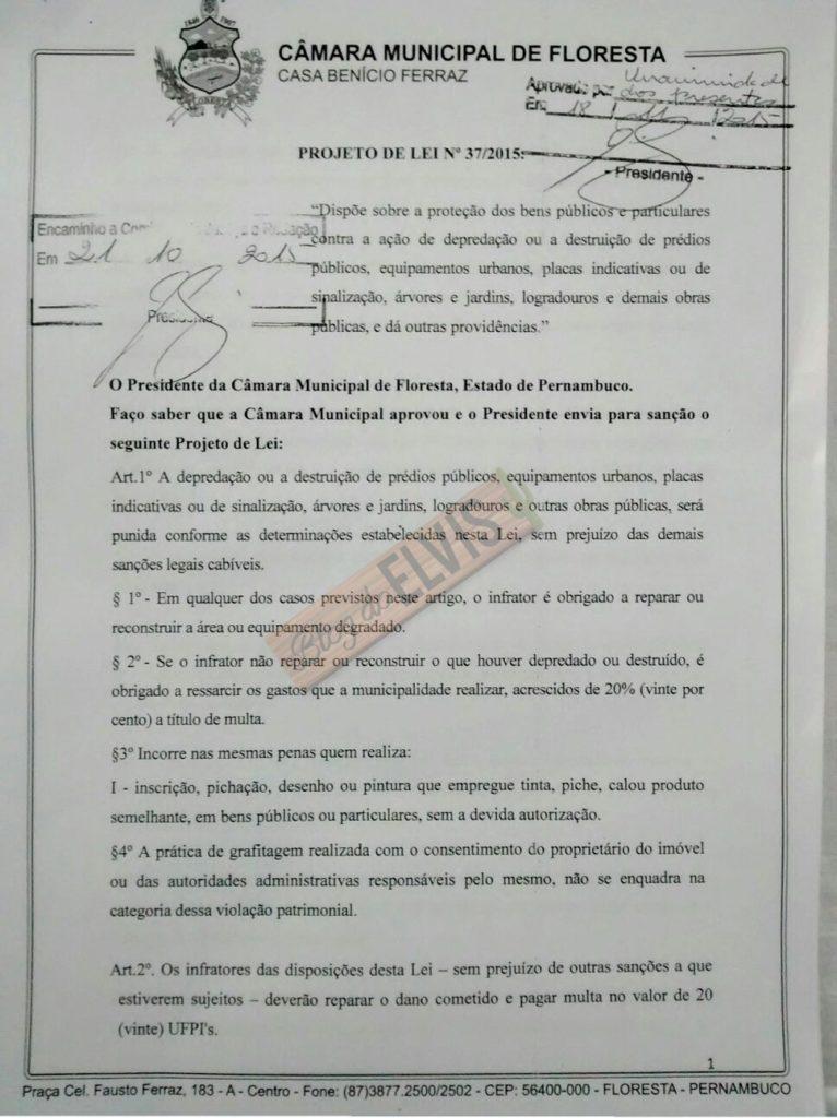 projeto de lei vandalismo multa floresta-pe (1)