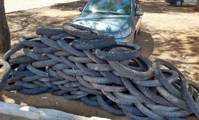pneus velhos no parque das caraibeiras
