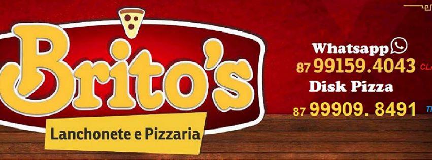 banner pizzaria e lanchonete britos