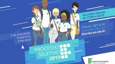 IF SErtão-PE processo seletivo cursos técnicos