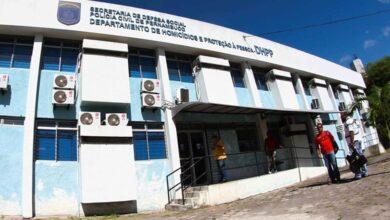 Departamento de Homicídios e Proteção à Pessoa (DHPP), localizado no bairro do Cordeiro, no Recife — Foto: Marlon Costa/Pernambuco Press